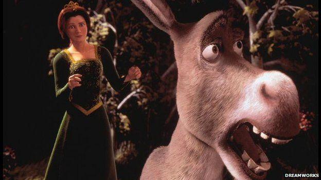 Donkey and Fiona from the film Shrek