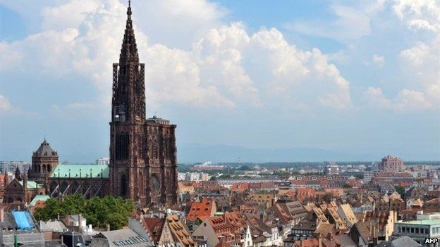 Picture of the Strasbourg's cathedral taken on June 29, 2009