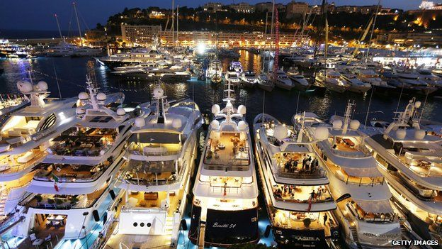 Luxury yachts at Monaco