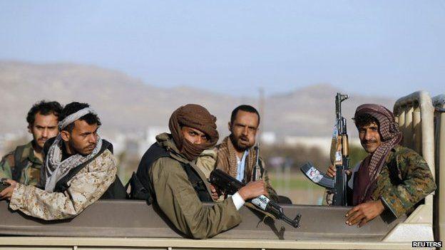 Shia Houthi rebels in Sanaa, 22 January