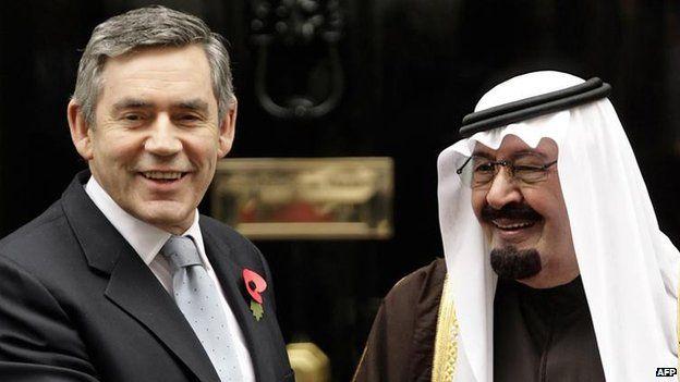 Gordon Brown with King Abdullah bin Abdulaziz of Saudi Arabia