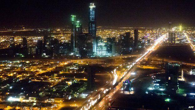 The skyline of Riyadh, Saudi Arabia, 28 March 2014