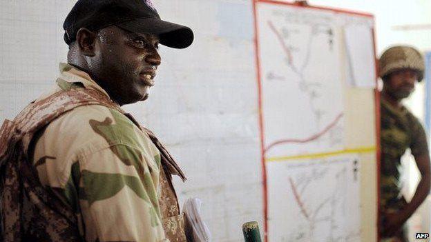 An army commander in Borno state, Nigeria - 2013