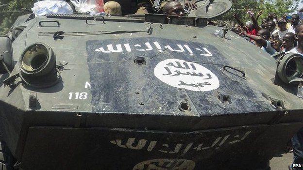 An armoured vehicle recaptured from Boko Haram, Maiduguri, Nigeria - Wednesday 17 September 2014