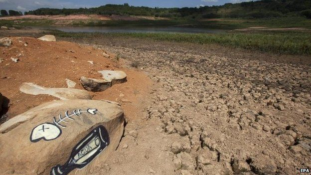View of the Jaguari dam, part of the Cantareira System