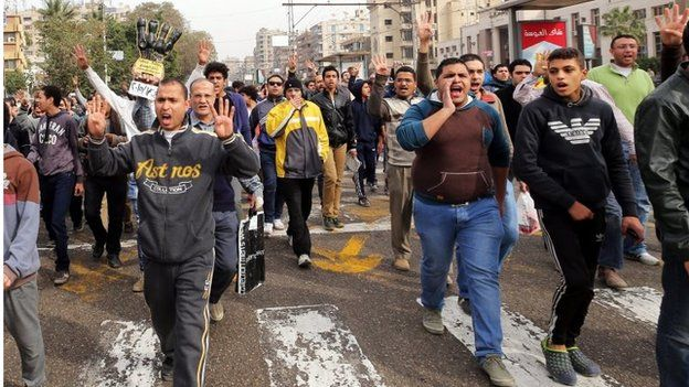 Muslim Brotherhood supporters in Cairo (24/01/15)