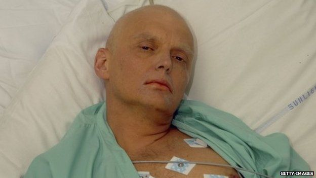 Alexander Litvinenko in hospital prior to is death in 2006