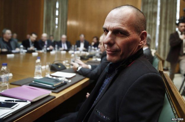 Finance Minister Yanis Varoufakis in Athens, 28 January