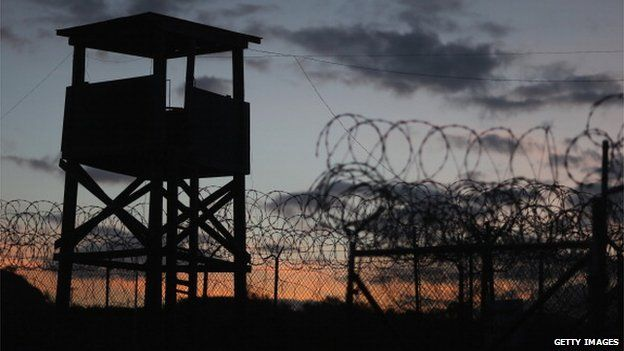 GUANTANAMO BAY, CUBA - JUNE 27: (EDITORS NOTE: Image has been reviewed by the U.S. Military prior to transmission.) A watch tower is seen in the currently closed Camp X-Ray which was the first detention facility to hold 'enemy combatants' at the U.S. Naval Station on June 27, 2013 in Guantanamo Bay, Cuba.
