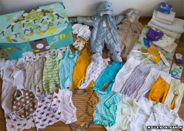 Why Finnish babies sleep in cardboard boxes - BBC News