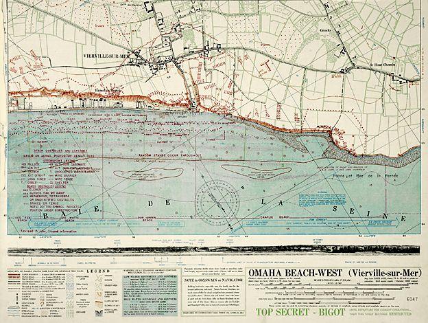 Omaha beach - D-Day map