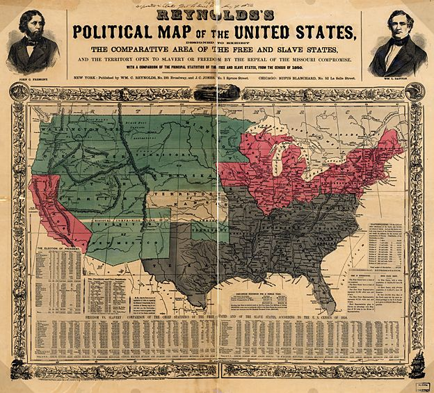 US slave states map