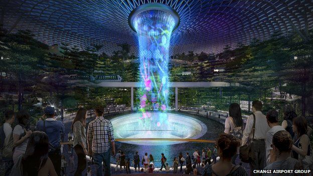 Graphic of Jewel terminal, Changi Airport