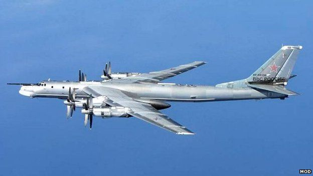 A Russian Tu-95 Bear 'H' aircraft