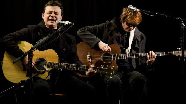 James Dean Bradfield and Nicky Wire of Manic Street Preachers in 2010