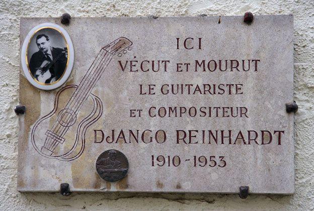 Django Reinhardt memorial stone