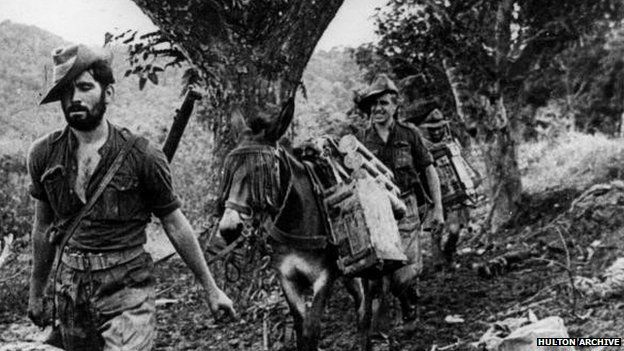 Chindits in the Burmese jungle, 1943