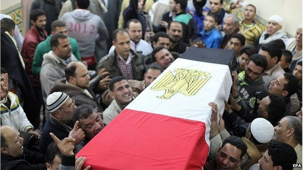 Funeral for one of those killed in Thursday's attack (30 January)