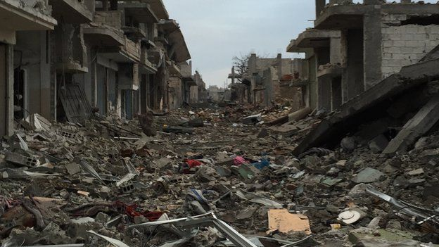 Destruction in Kobane (January 2015)