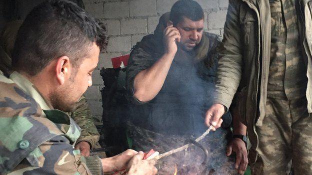 Kurdish fighters in Kobane (January 2015)