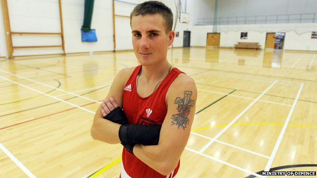 Lance Corporal Ashley Williams of the 1st Battalion the Royal Welsh
