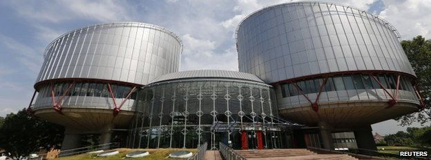 General view of the European Court of Human Rights in Strasbourg