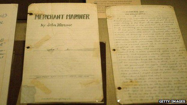 Picture of a Kerouac manuscript
