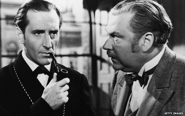 Basil Rathbone as Holmes