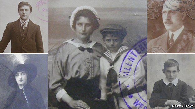 Passports and identity card montage - Mixture of French and British