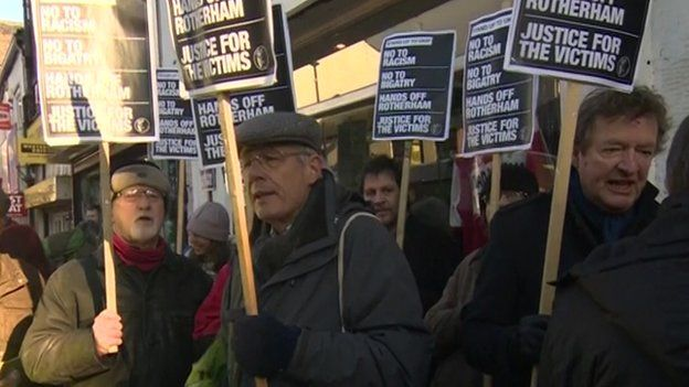 Protest at UKIP Rotherham office