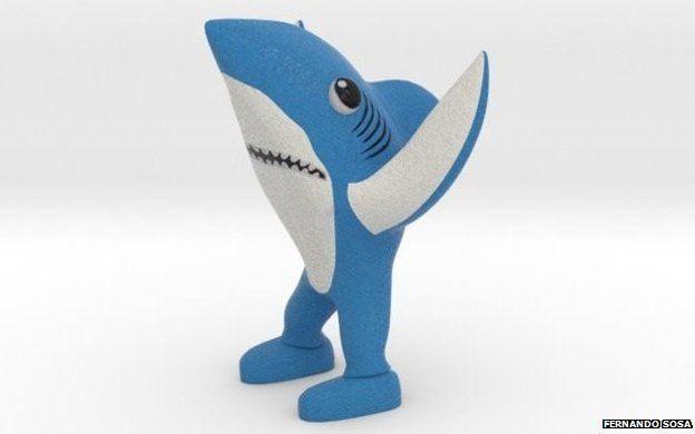 Left Shark 3D-printed model