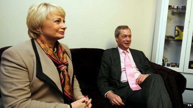 Jane Collins and Nigel Farage