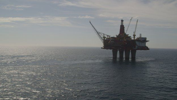 Statoil oil platform in the North Sea