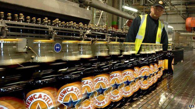 Newcastle Brown Ale bottles