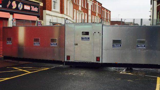 Police cordon in Dudley