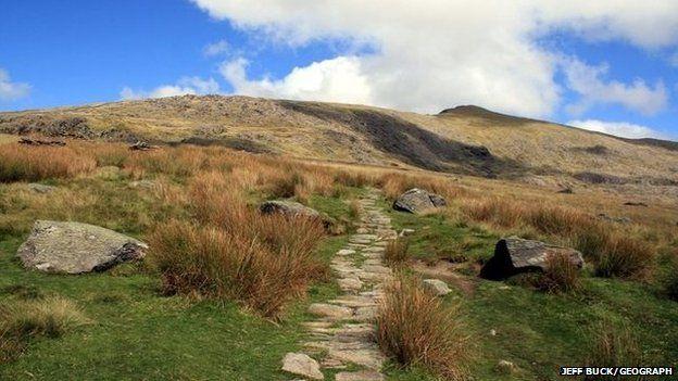 The Rhyd-Ddu path on Snowdon