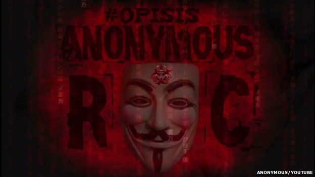 A mask appears on a red background with the word anonymous shown