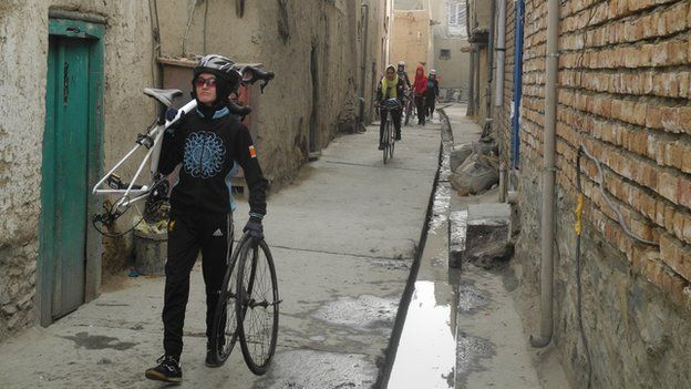 Women's cycling team in Kabul, Afghanistan, 2015.