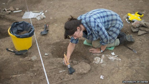 Archaeologist at the Ipplepen site