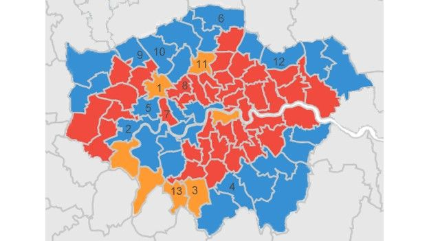 General election 2015 Seven of the key battlegrounds BBC News – 2015 Uk Election Map