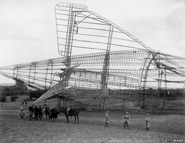 Wreckage from the R101 crash site in Beauvais, France