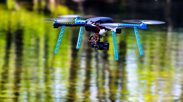 A 3D Robotics drone in flight