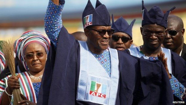 Muhammadu Buhari campaigns in Lagos on 30 January 2015