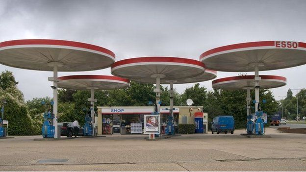 The Mobil petrol Station