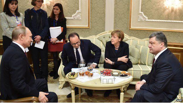 Minsk - leaders meeting, 11 Feb 15