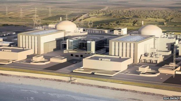 Artists impression of new Hinkley Point C station