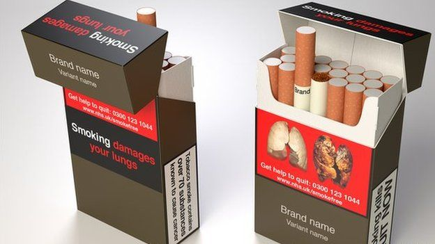 Department of Health images of how standardised packaging may look