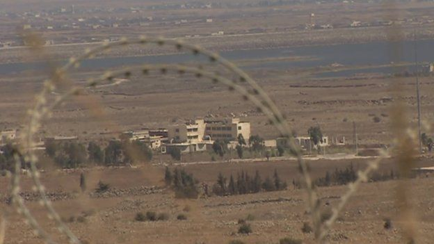 View of Syrian Golan Heights from Israeli-occupied Golan Heights