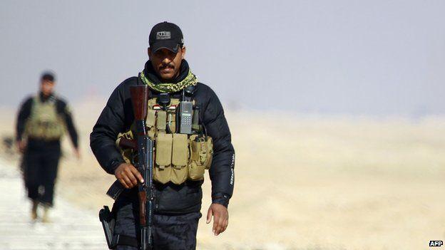 Iraqi security forces on Anbar-Najaf border
