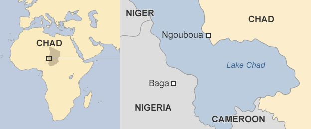map showing Ngouboua